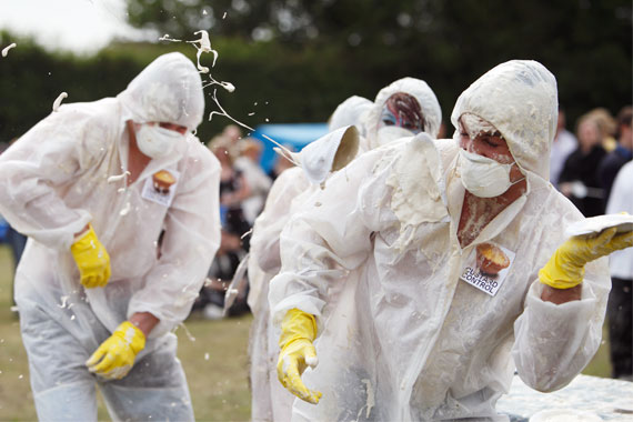 Custard Pie Throwing