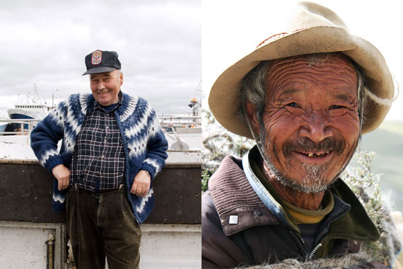 Icelandic Fisherman & Chinese Farmer